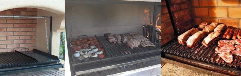 Différents types de construction de barbecue argentin à grille réglable
