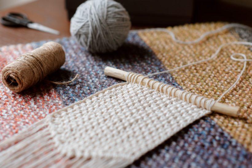 macramé baguette laine