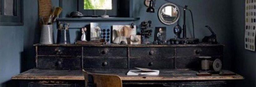 Une déco industrielle pour un espace de travail à la maison