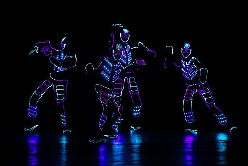 spectacle robot lumière